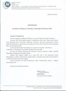 Zaproszenie do Konkursu
