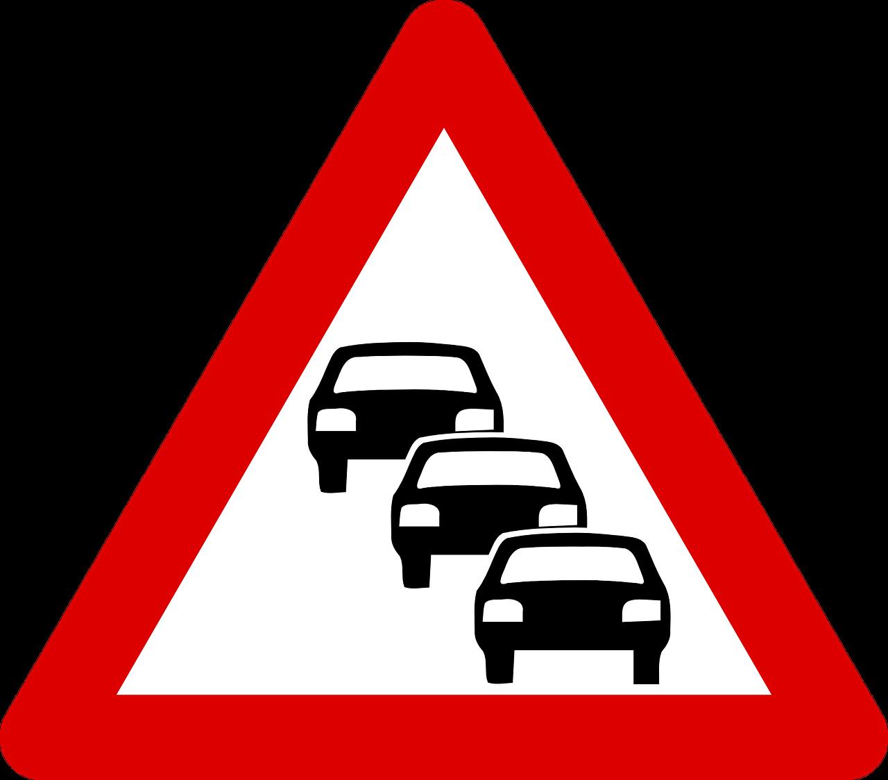 traffic queue, traffic, road